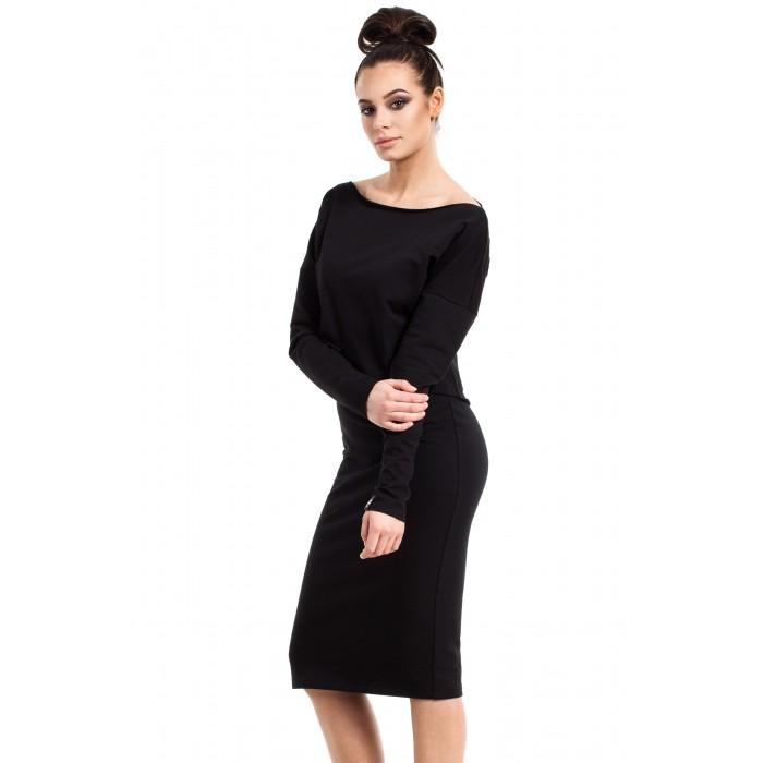 Čierne púzdrové úpletové šaty CAMI B001 8bb3c1af09d