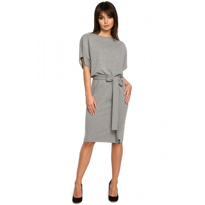 Šedé úpletové KIMONOI šaty s opaskom B058 ea32e813f73