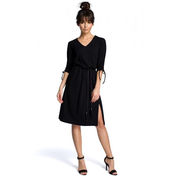 b478310d3f1b Čierne letné šaty v Alínii s oapskom B068