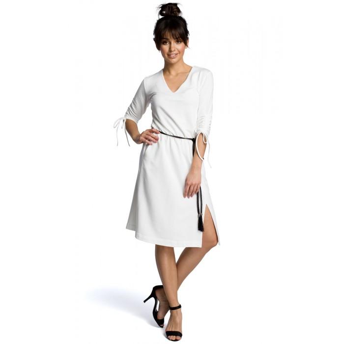 a52a18fe4947 Biele letné šaty v Alínii s oapskom B068