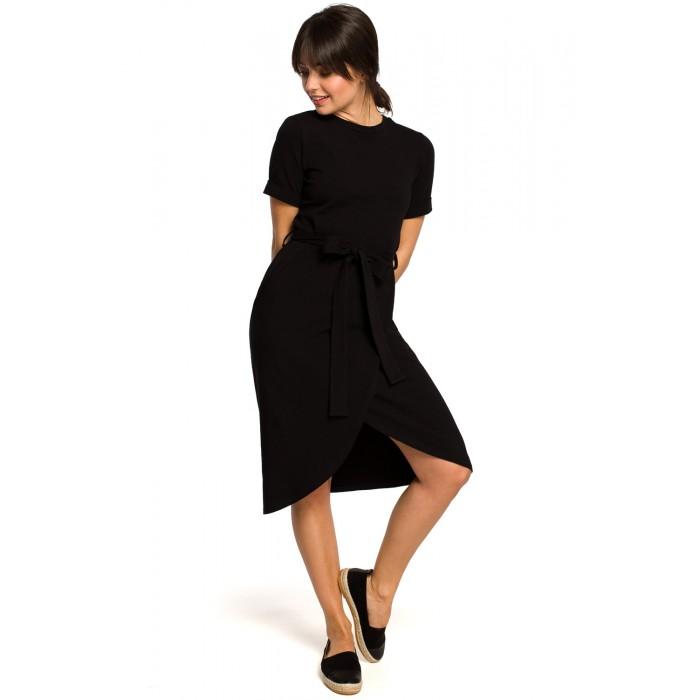 07073c929ac6 Čierne úpletové letné šaty s tulipánovou sukňou B118
