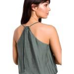 Zelený letný overal na ramienka s dlhými nohavicami B155
