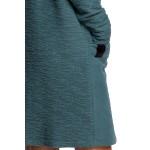 Tyrkysové úpletové šaty s veľkými vreckami B177