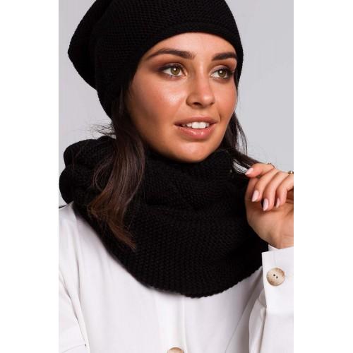 Čierny pletený šál BK042