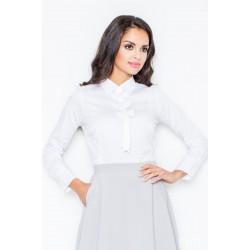 Biela košeľa s mašličkami M001 36