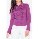 Tmavofialová košeľa so žabó M012