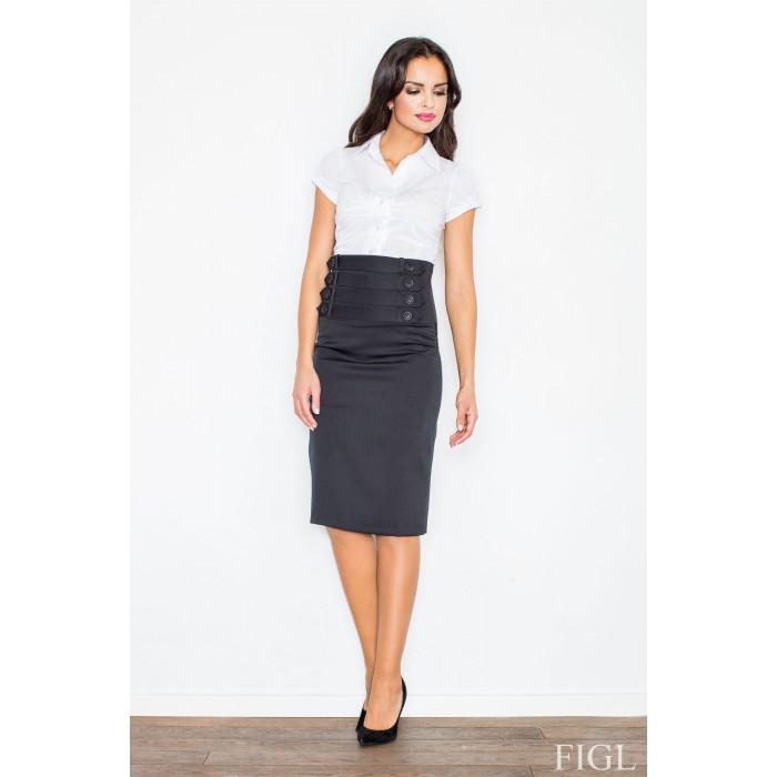 2c970babf7ea Čierna sukňa s vysokým pásom M036