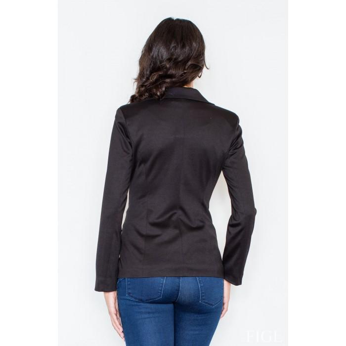 06b301a9c2c5 Dámske čierne športovo elegantné sako s podšívkou M085