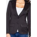 Dámske čierne športovo elegantné sako s podšívkou M085