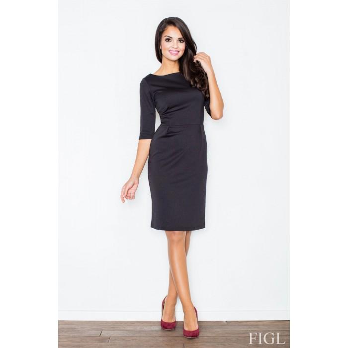 706e9cd93 Dámske čierne púzdrové šaty M202