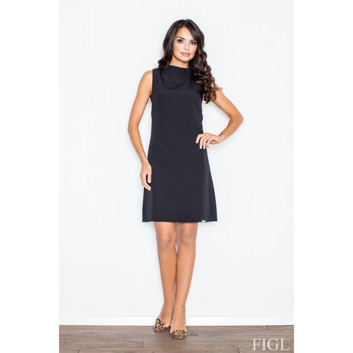 5651f097d51a Dámske čierne šaty Alínia bez rukávov M299