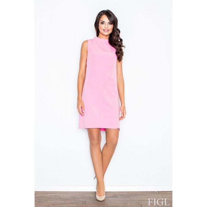 Dámske ružové šaty Alínia bez rukávov M299 b429ee37c7c