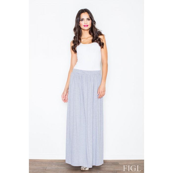 06a61cc5ef37 Dámska šedá dlhá úpletová sukňa M310