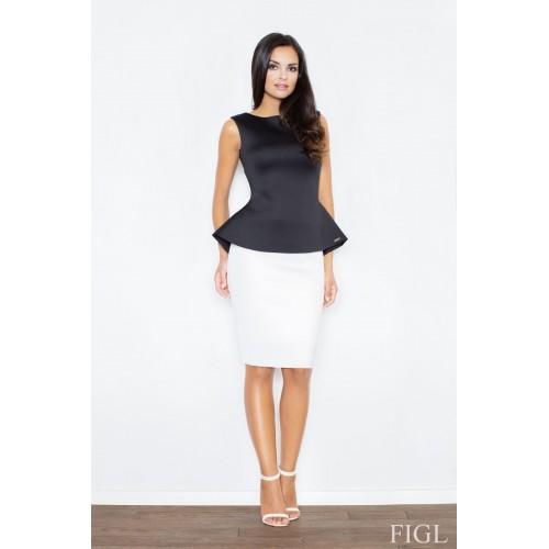 Dámska biela púzdrová penová sukňa M359