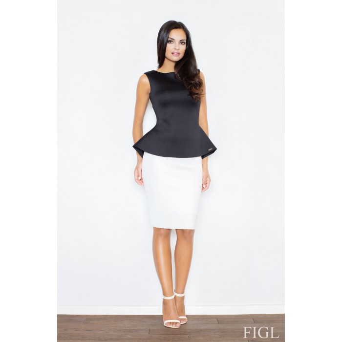 b3084b5bb1fd Dámska biela púzdrová penová sukňa M359