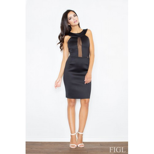 Dámske čierne penové šaty bez rukávov M372