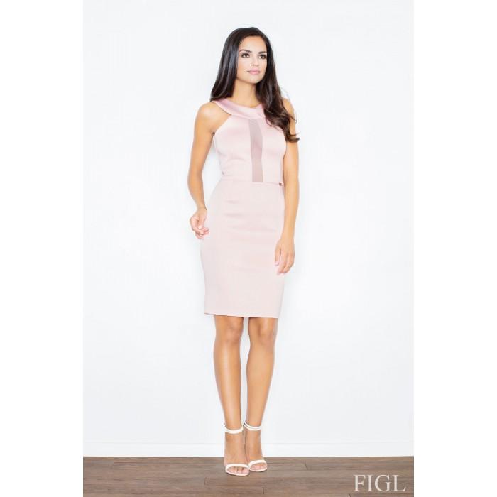 cfb70497f32f Dámske ružové penové šaty bez rukávov M372