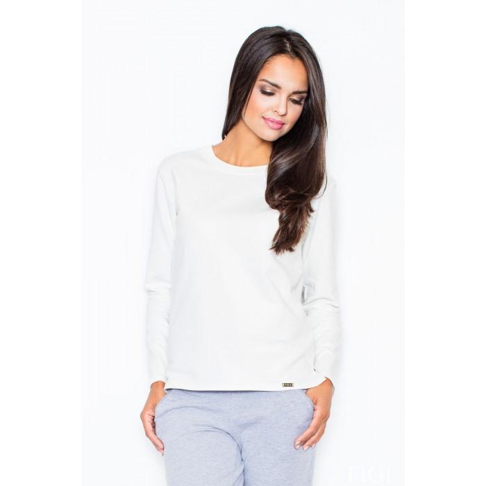 fee2f508f8e8 Dámske biele tričko s dlhým rukávom M376