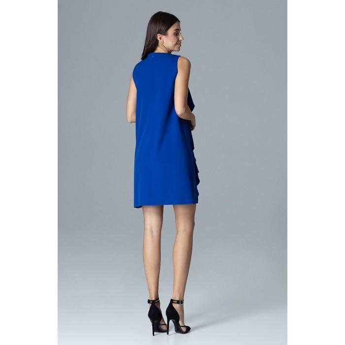 Dámske kráľovsky modré šaty s volánmi v Alínii M622 f0a05e1169b