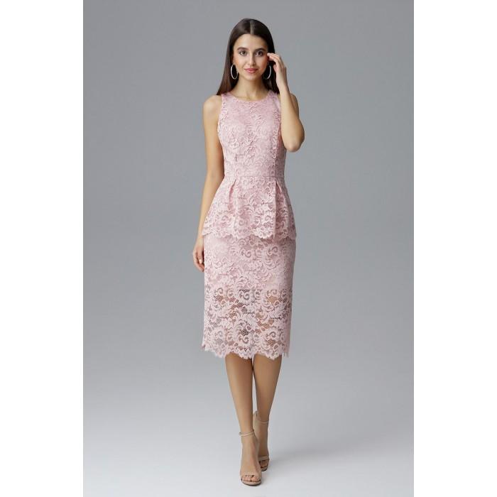 Ružové čikokované púzdrové šaty bez rukávov M640 c0974cb08d5