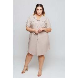 Béžové košeľové šaty MARIETA Grandio