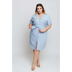 Svetlomodré košeľové šaty MARIETA Grandio