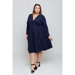 Tmavomodré šaty s rozšírenou sukňou ANIA Grandio