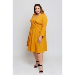 Žlté šaty s rozšírenou sukňou ANIA Grandio