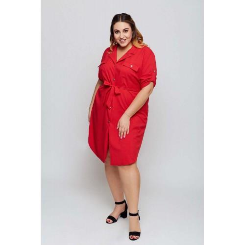 Červené košeľové šaty MARIETA Grandio