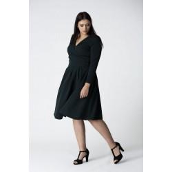 Tmavozelené šaty s rozšírenou sukňou ANIA Grandio