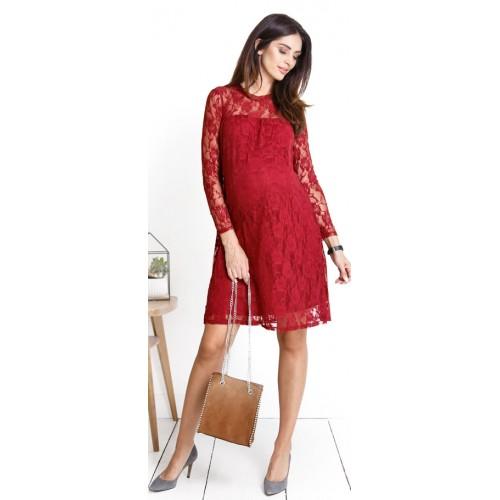 b122bd6a09e8 Tehotenské šaty Beauty you ruby dress (d926b)