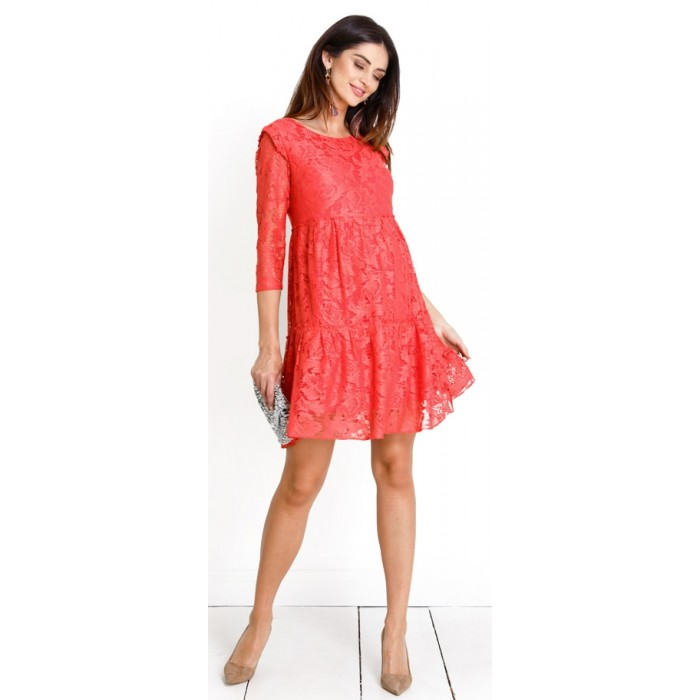 6ad168ff1218 Tehotensé šaty Natalie coral dress (d983b)