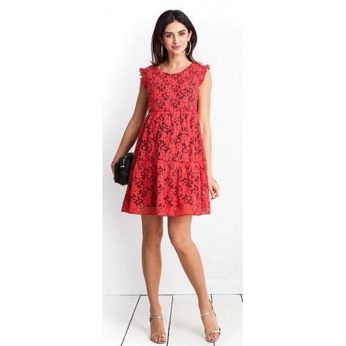 Tehotenské šaty Jessi coral dress (D1001)