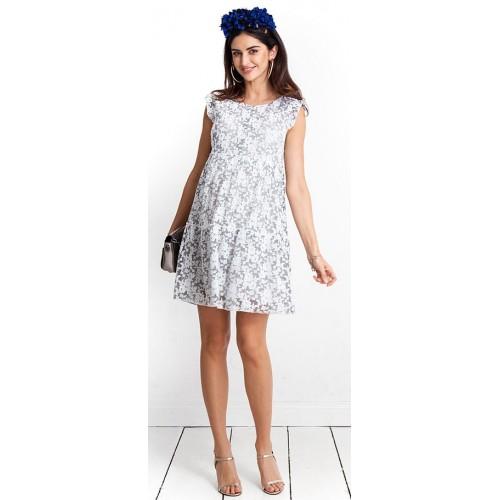 Tehotenské šaty Jessi dove dress (D1001b)