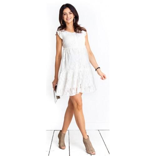 Tehotenské šaty Monique cream dress (D1012a)