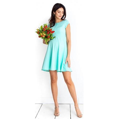 Tehotenské šaty Lilou mint dress (D999a)