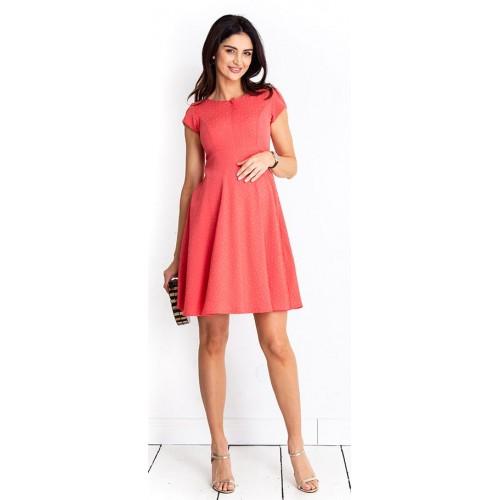 Tehotenské šaty Lilou coral dress (D999b)