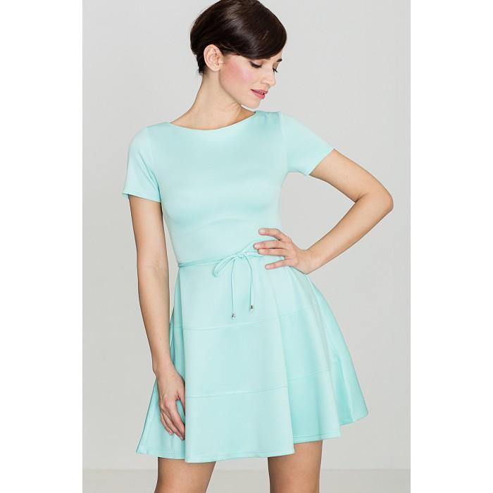 d5ac7a28a068 Dámske mätové šaty s volánovou sukňou K090