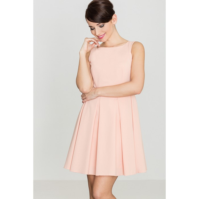 9e185efb43e9 Dámske ružové RETRO šaty K128