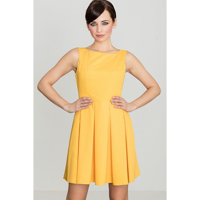 477ba22fa01a Dámske žlté RETRO šaty K128