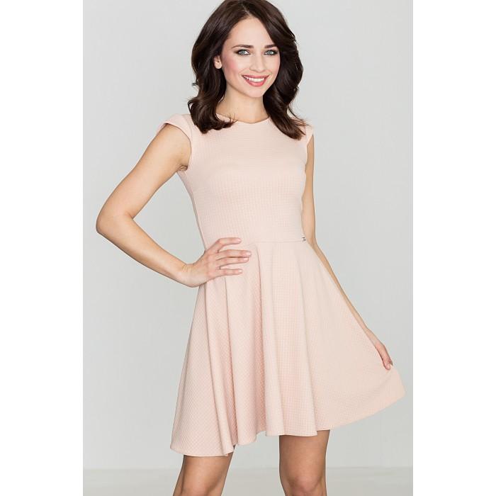 d51b43712dcf Dámske púdrovoružové šaty v A línii K162