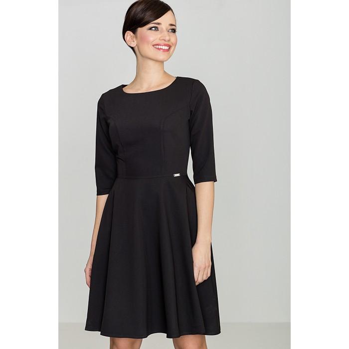 8e7afdf53820 Dámske čierne áčkové šaty K219