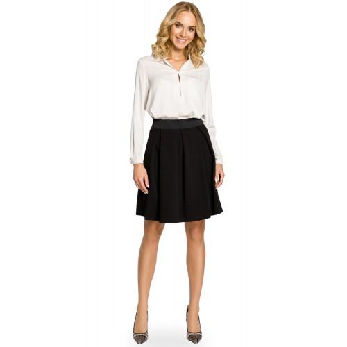 Čierna áčková sukňa s pásom na širokú gumu MOE012