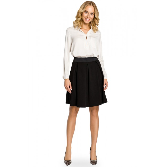 89ffae4a0873 Čierna áčková sukňa s pásom na širokú gumu MOE012