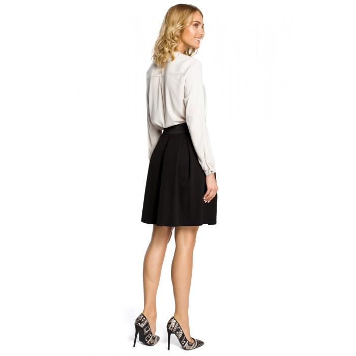 3313c8be50d5 Čierna áčková sukňa s pásom na širokú gumu MOE012