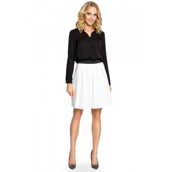 42eb749bb2da Biela áčková sukňa s pásom na širokú gumu MOE012