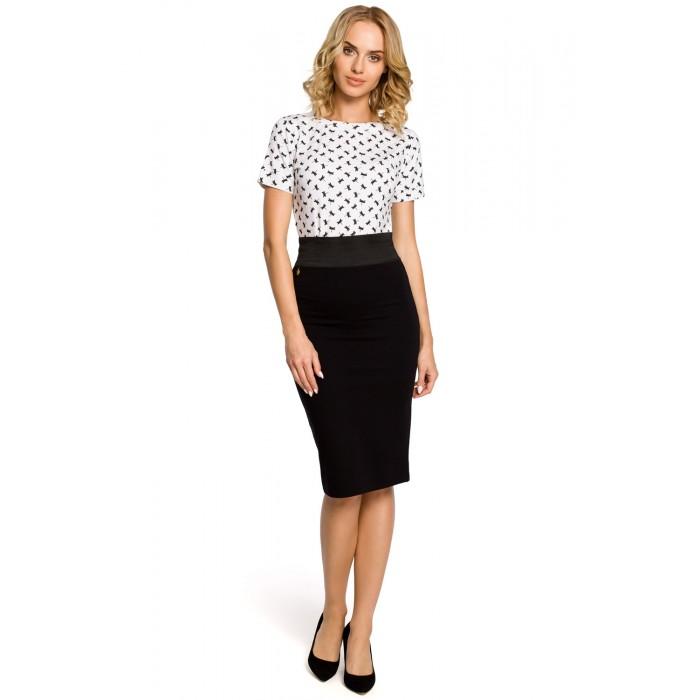 6c4ecb262a95 Dámska čierna púzdrová sukňa s elastickým pásom 062