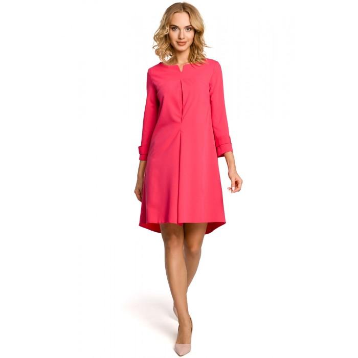 c2519ba1e076 Dámske fuchsiové šaty v tvare