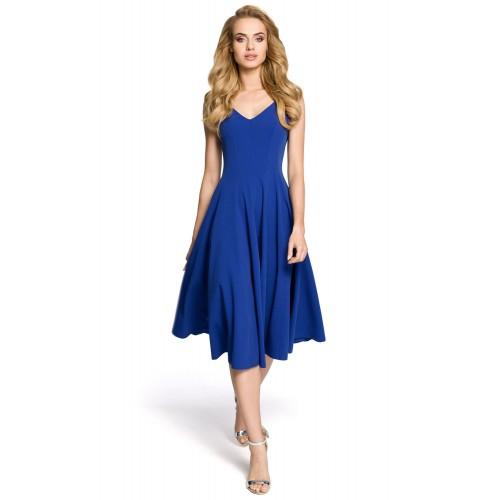Dámske koktejlové modré šaty MOE201