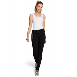 Dámske čierne bavlnené nohavice MOE208